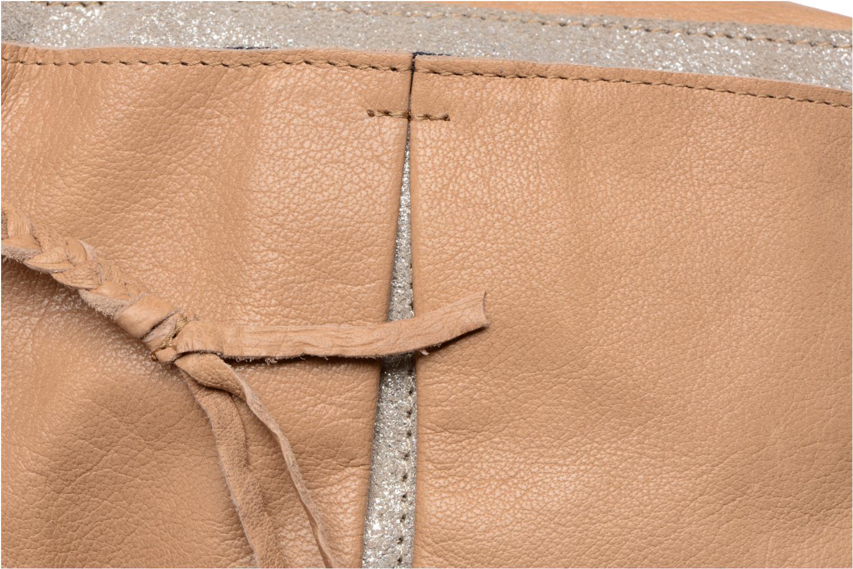 Sacs à main Pieces Jace Leather Crossover bag Beige vue gauche