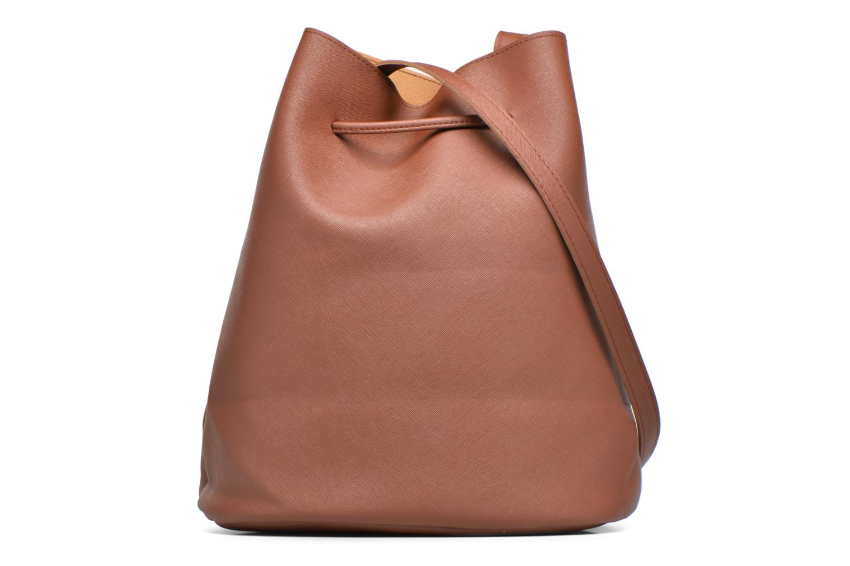 Bolsos de mano Pieces Lellis Tighten bag Marrón vista de frente