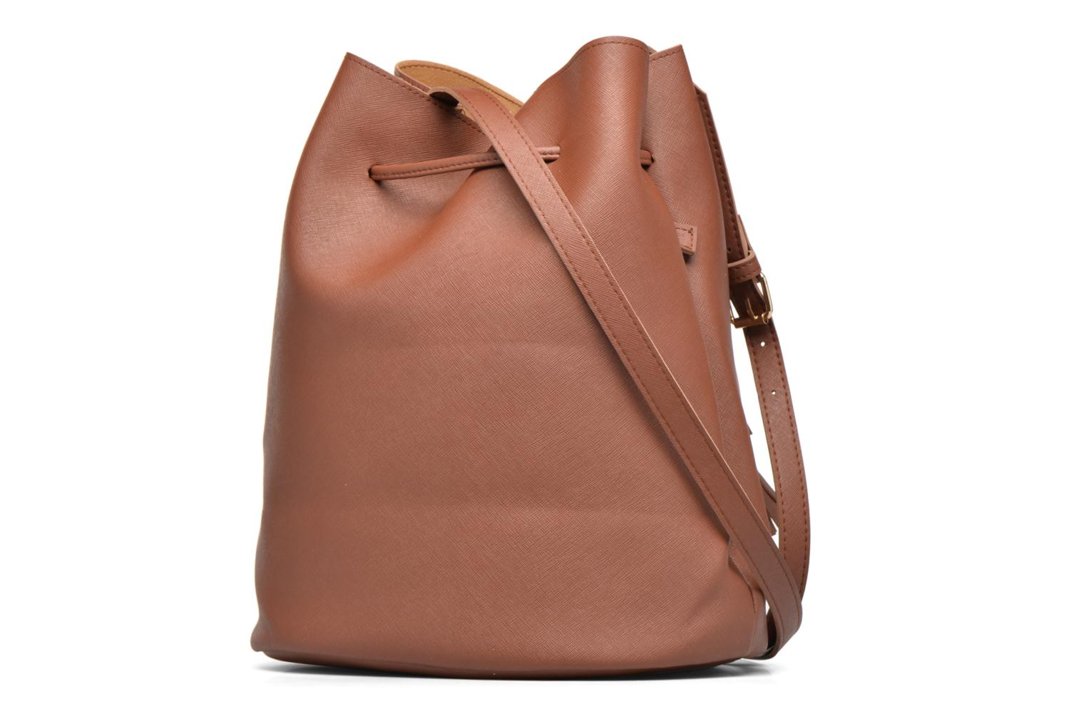 Handbags Pieces Lellis Tighten bag Brown view from the right