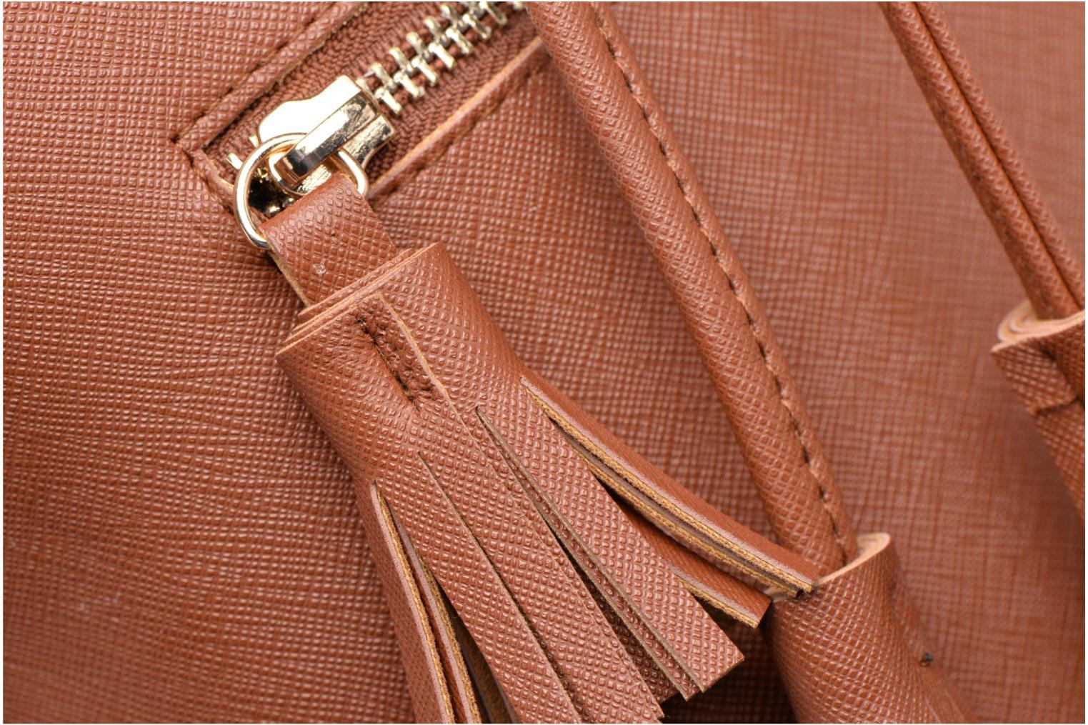 Bolsos de mano Pieces Lellis Tighten bag Marrón vista lateral izquierda