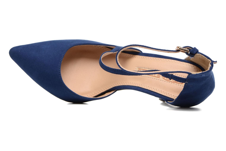 Zapatos de tacón Buffalo Joly Azul vista lateral izquierda