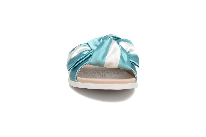 Satine Satin Turquoise White 09