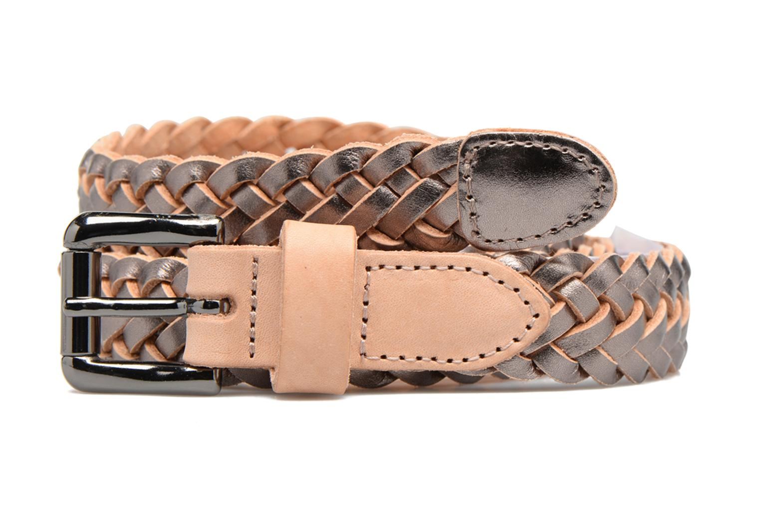 Lille Braided Leather Jeans Belt Gunmetal