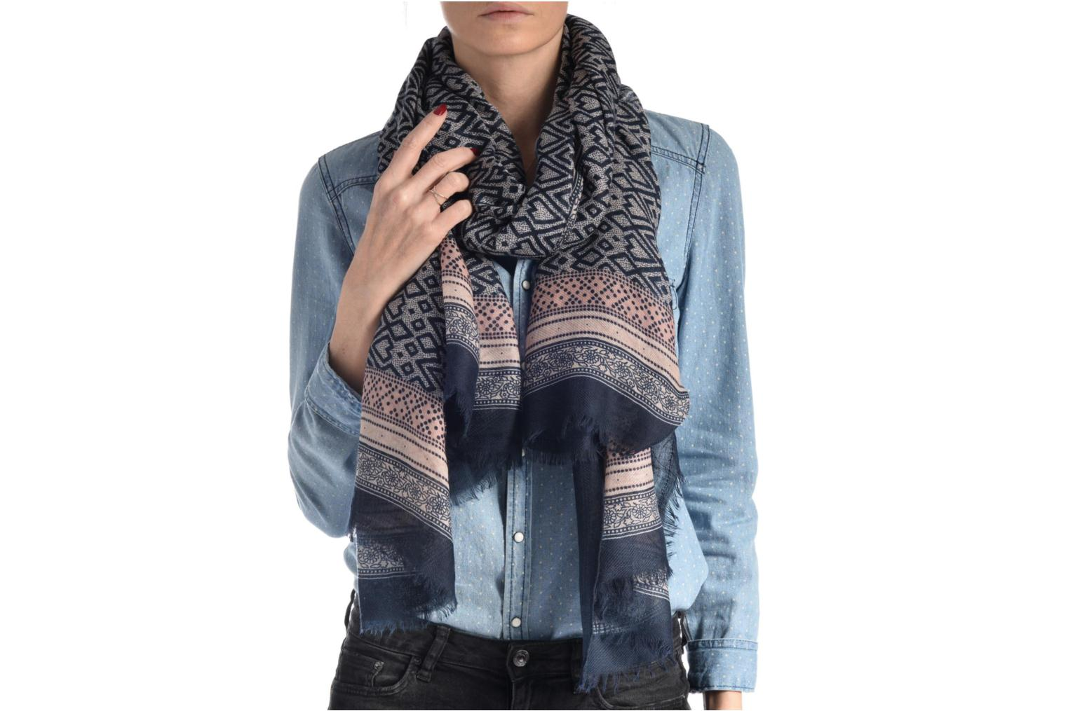 Divers Pieces Limon Long scarf Bleu vue haut