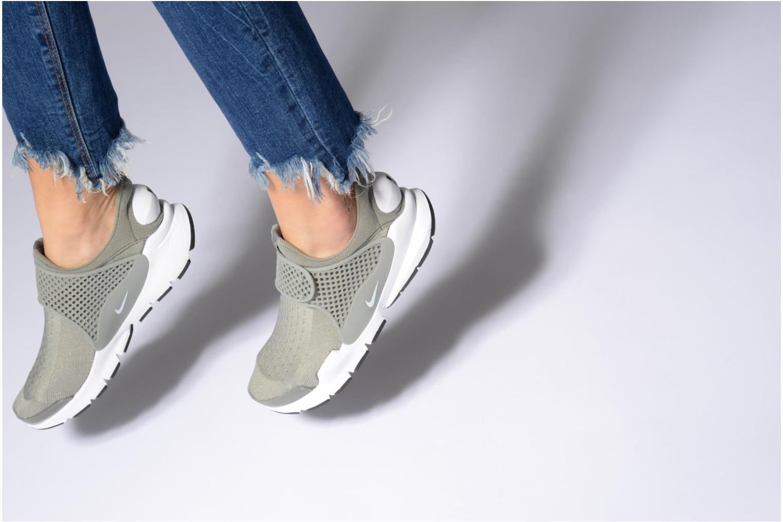 Baskets Nike Wmns Nike Sock Dart Violet vue bas / vue portée sac