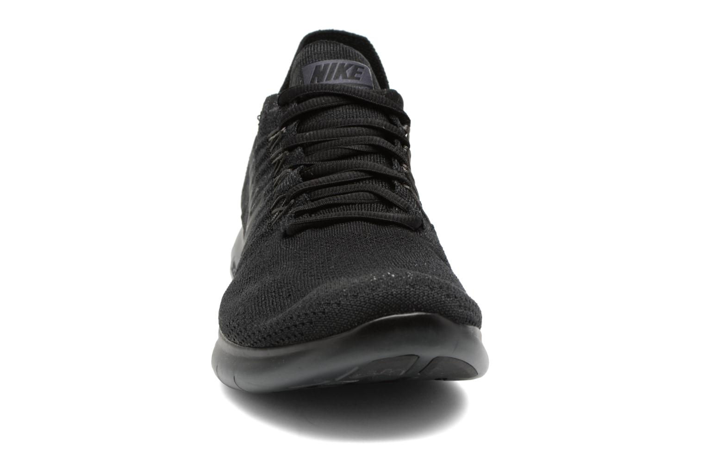 Chaussures de sport Nike Nike Free Rn Flyknit 2017 Noir vue portées chaussures