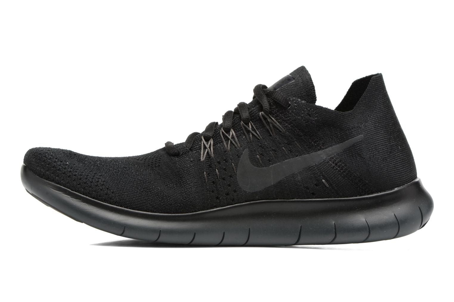 Sport shoes Nike Nike Free Rn Flyknit 2017 Black front view