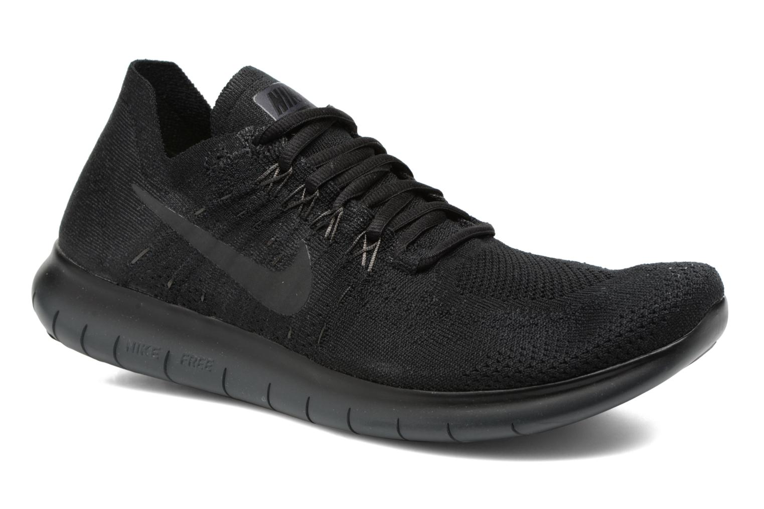 Sport shoes Nike Nike Free Rn Flyknit 2017 Black detailed view/ Pair view