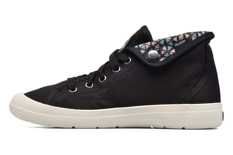 Sneaker Palladium Aventure F schwarz ansicht von vorne