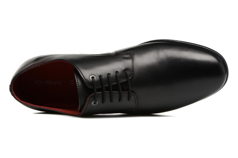 Chaussures à lacets Kickers Praduks Noir vue gauche