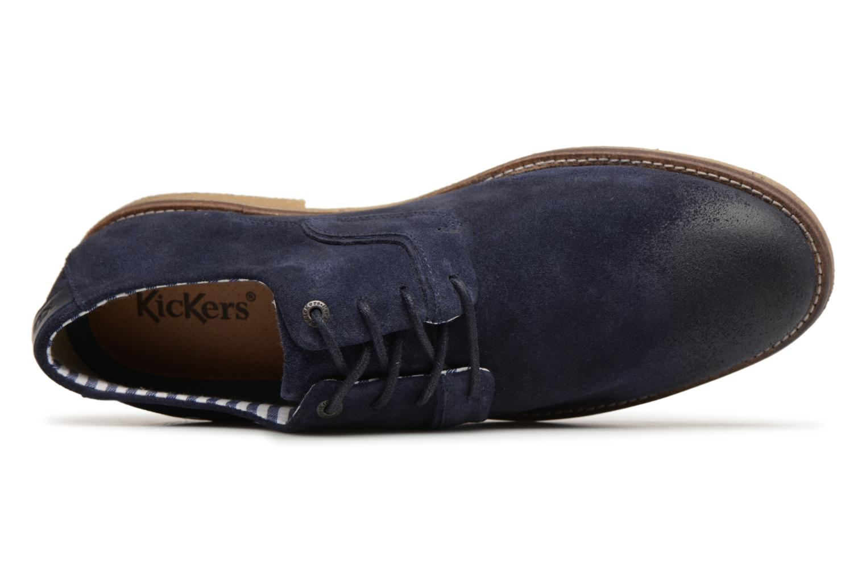 Schnürschuhe Kickers Bachalcis blau ansicht von links