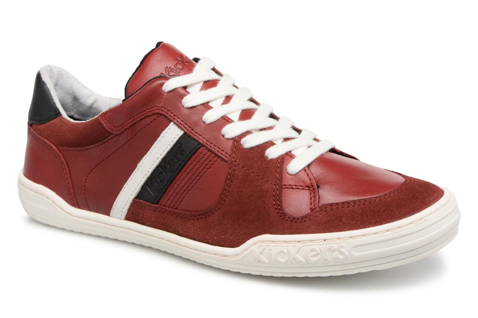 Sneakers Kickers Jexprime Rood detail
