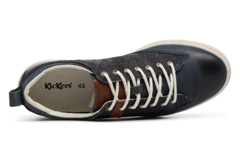 Sneakers Kickers Santa Fe Blauw links