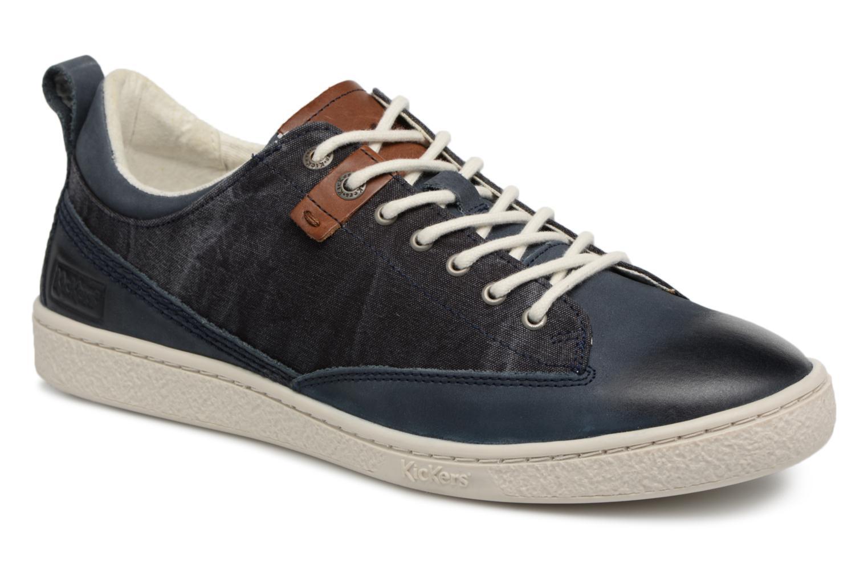 Sneakers Kickers Santa Fe Blauw detail
