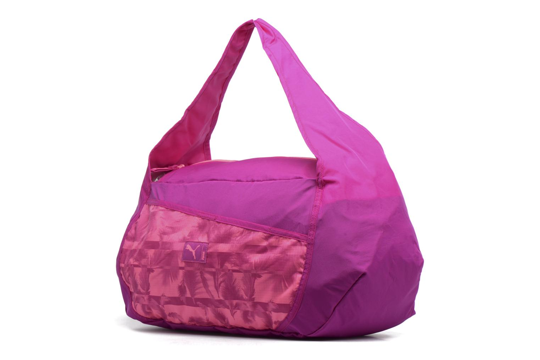 Sacs de sport Puma Studio Barrel Bag Rose vue portées chaussures