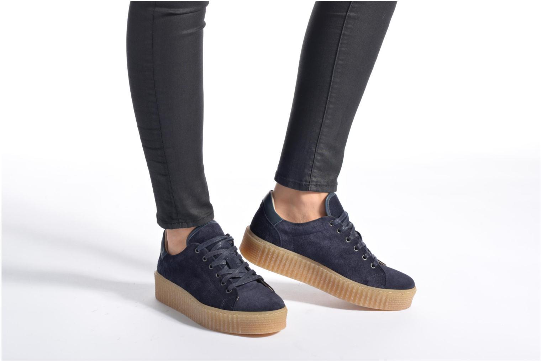 Baskets Mustang shoes Cara Bleu vue bas / vue portée sac