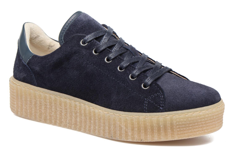 Baskets Mustang shoes Cara Bleu vue détail/paire