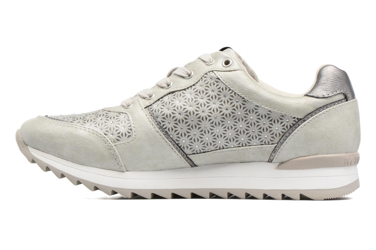Trainers Mustang shoes Cacilia Silver front view