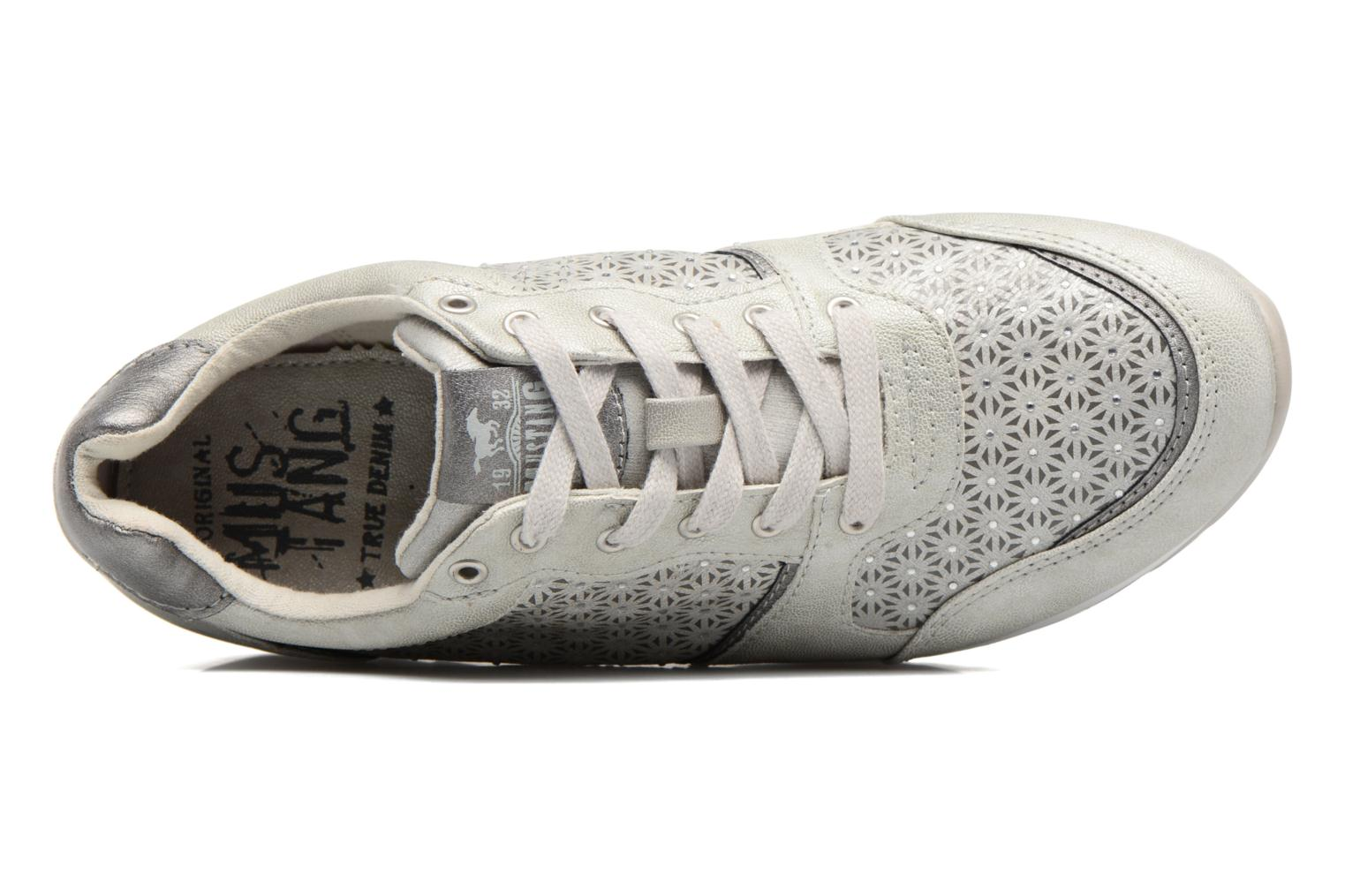 Sneaker Mustang shoes Cacilia silber ansicht von links
