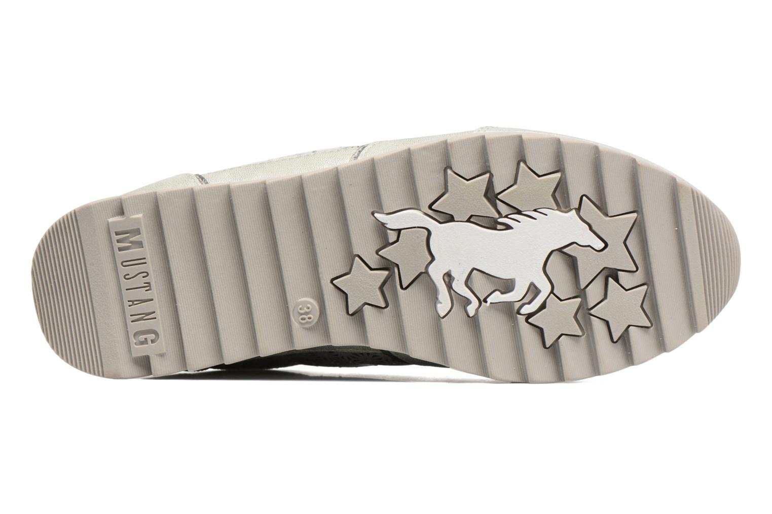 Sneaker Mustang shoes Cacilia silber ansicht von oben