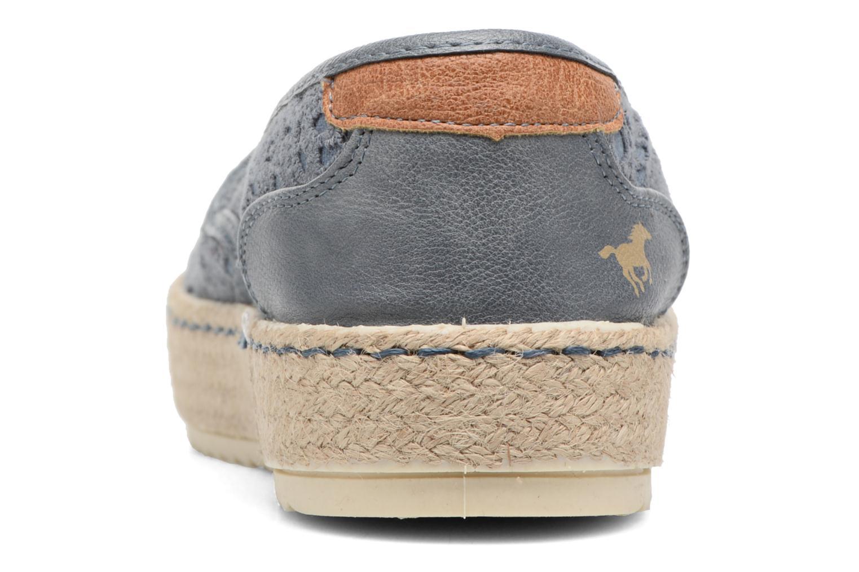Espadrilles Mustang shoes Liese Bleu vue droite
