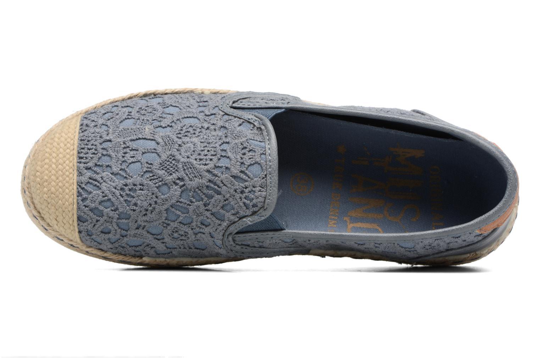 Scarpe di corda Mustang shoes Liese Azzurro immagine sinistra