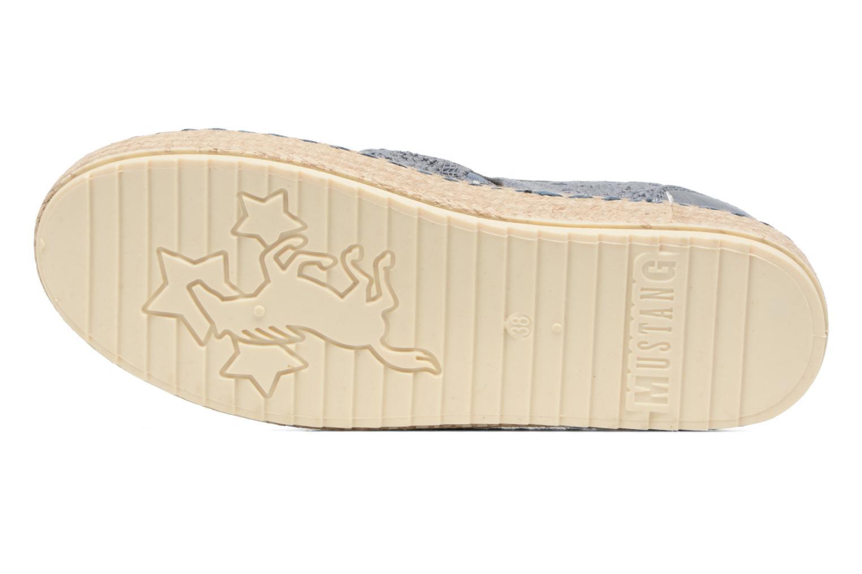 Espadrilles Mustang shoes Liese Bleu vue haut
