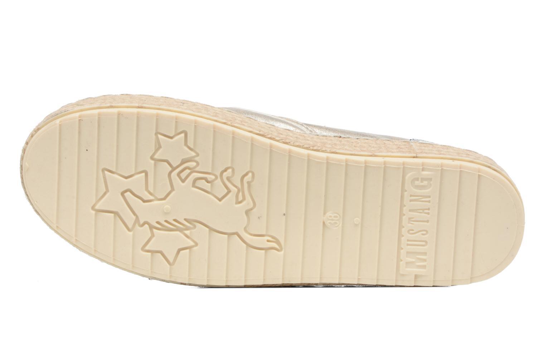Espadrilles Mustang shoes Kathe Or et bronze vue haut
