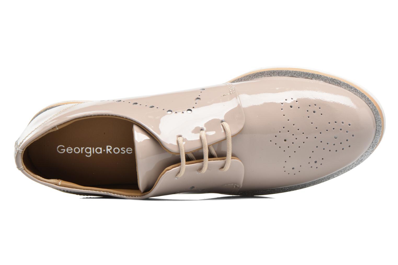 Zapatos con cordones Georgia Rose Maglit Beige vista lateral izquierda