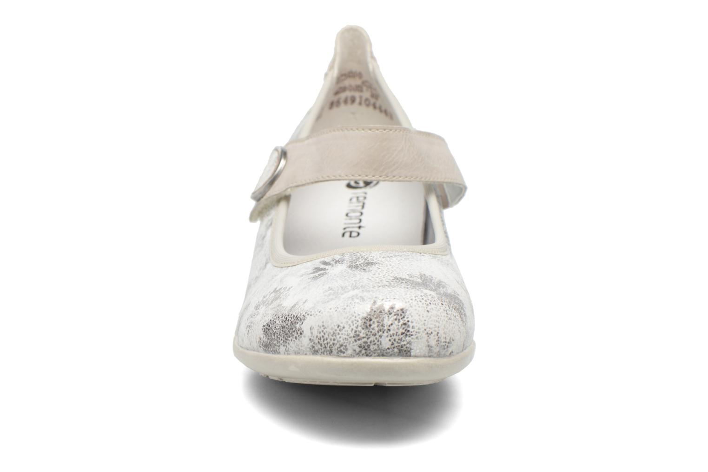 Ballerines Remonte Blomi R9840 Argent vue portées chaussures