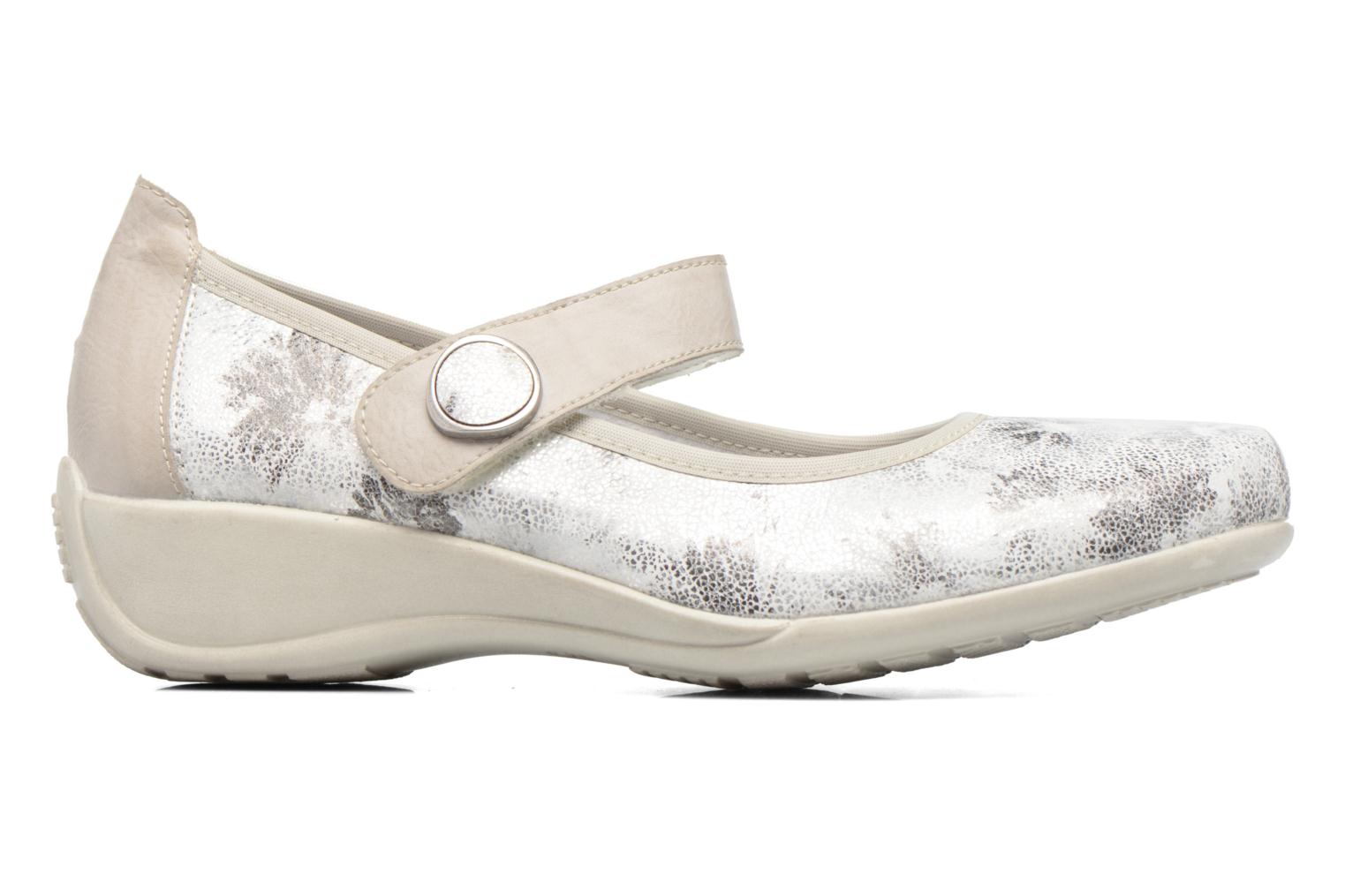 Ballet pumps Remonte Blomi R9840 Silver back view