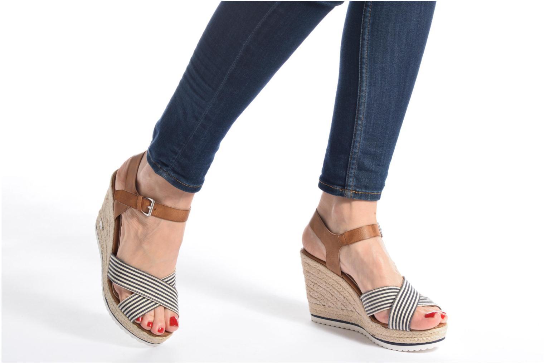 Sandales et nu-pieds Tom Tailor Glenda Bleu vue bas / vue portée sac