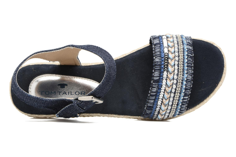 Sandales et nu-pieds Tom Tailor Leodi Bleu vue gauche