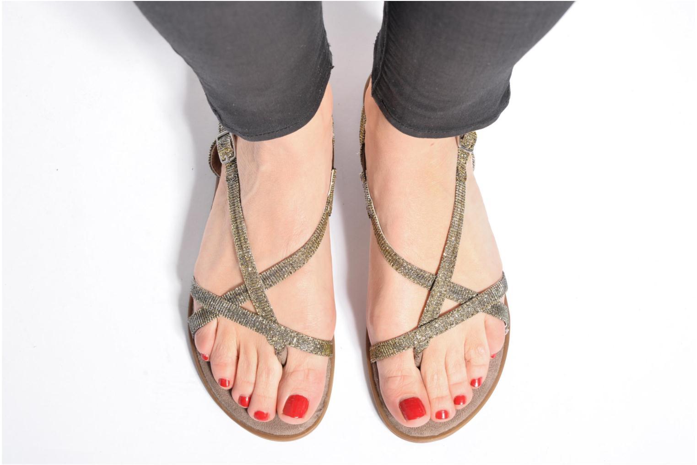 Sandales et nu-pieds Tom Tailor Guadal Or et bronze vue bas / vue portée sac