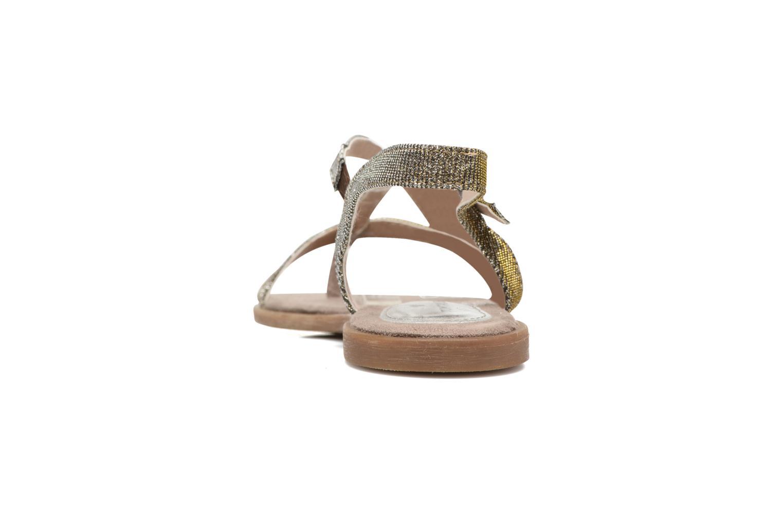Sandales et nu-pieds Tom Tailor Guadal Or et bronze vue droite