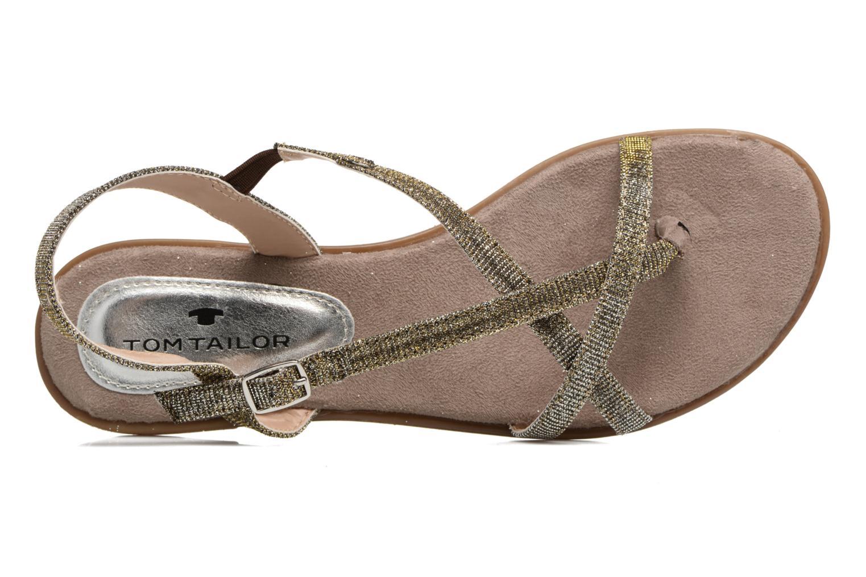 Sandales et nu-pieds Tom Tailor Guadal Or et bronze vue gauche