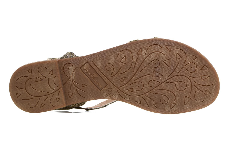 Sandales et nu-pieds Tom Tailor Guadal Or et bronze vue haut