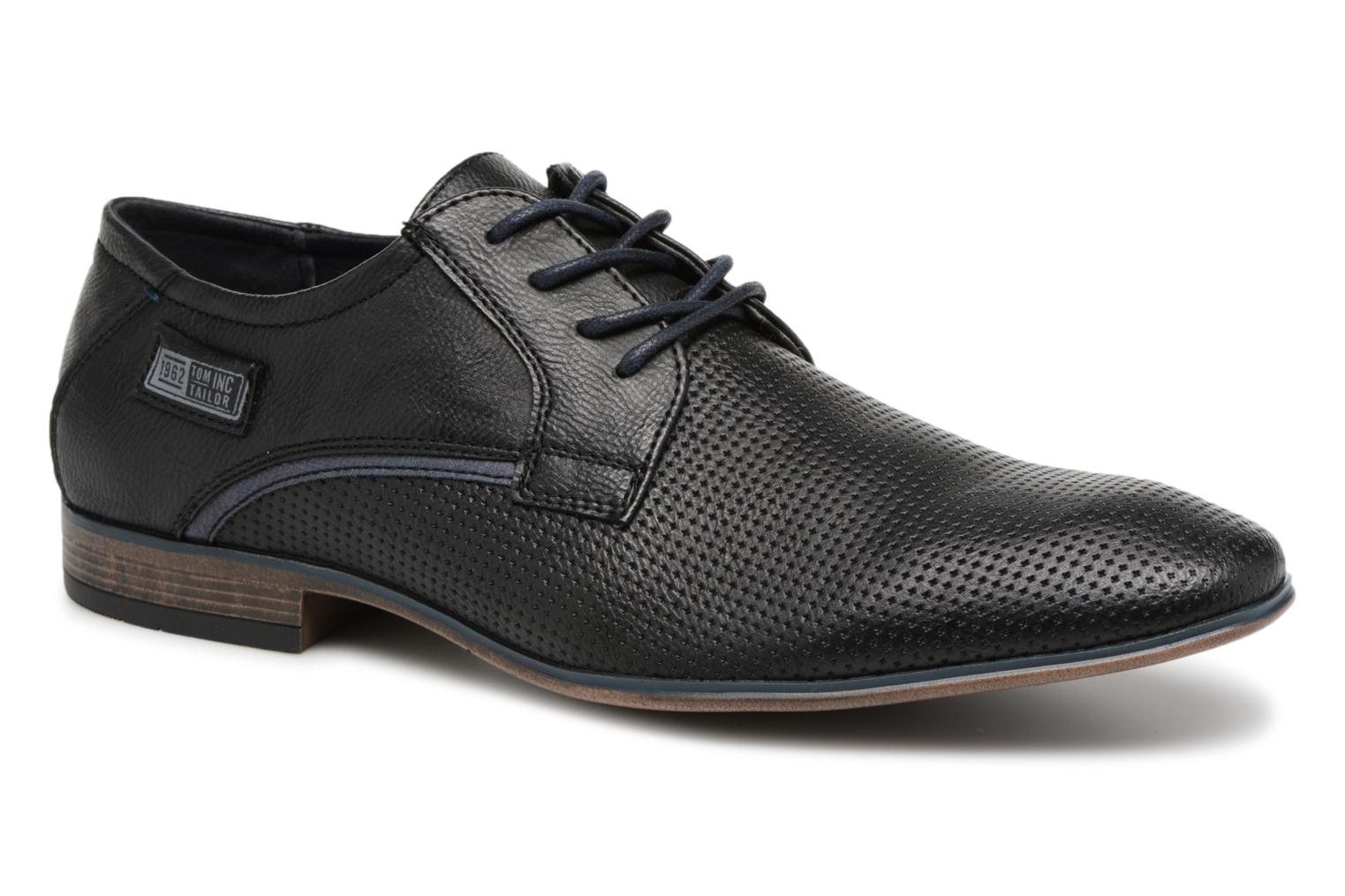 Lace-up shoes Tom Tailor Kobby Black detailed view/ Pair view