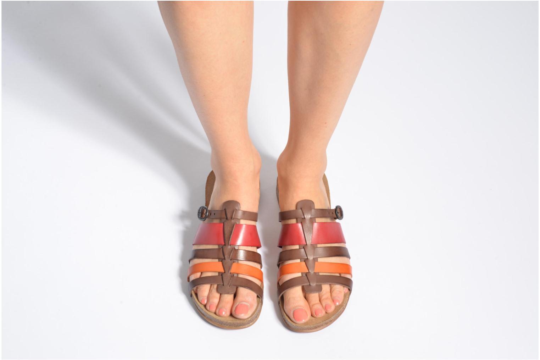 Sandales et nu-pieds Kickers Anaelle Multicolore vue bas / vue portée sac