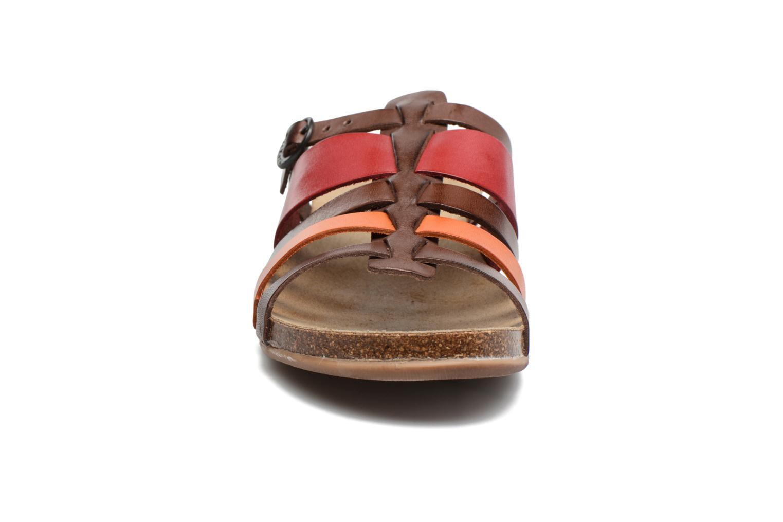Sandales et nu-pieds Kickers Anaelle Multicolore vue portées chaussures