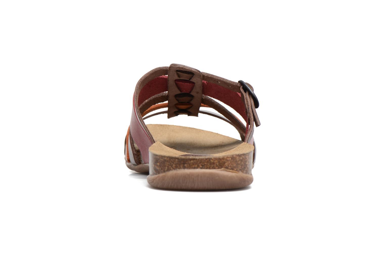 Sandales et nu-pieds Kickers Anaelle Multicolore vue droite