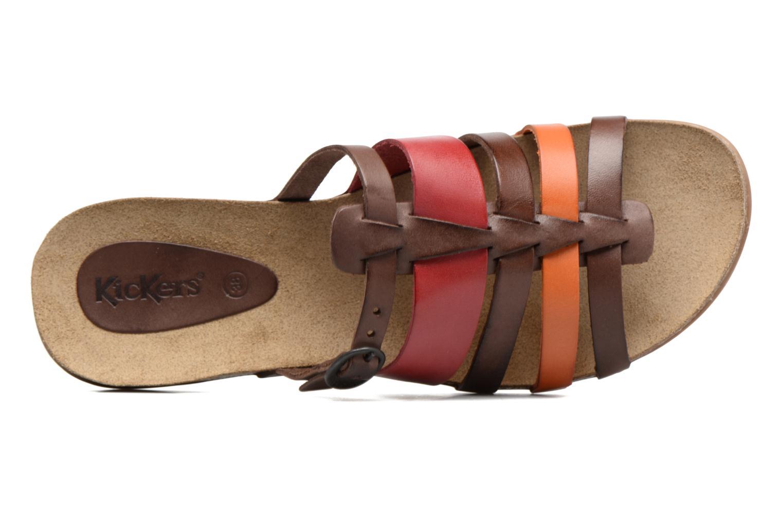 Sandales et nu-pieds Kickers Anaelle Multicolore vue gauche