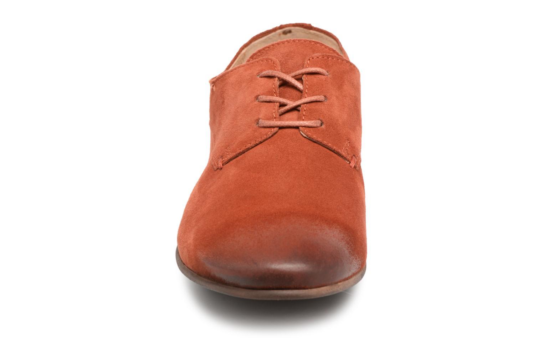 Schnürschuhe Kickers Galla orange schuhe getragen