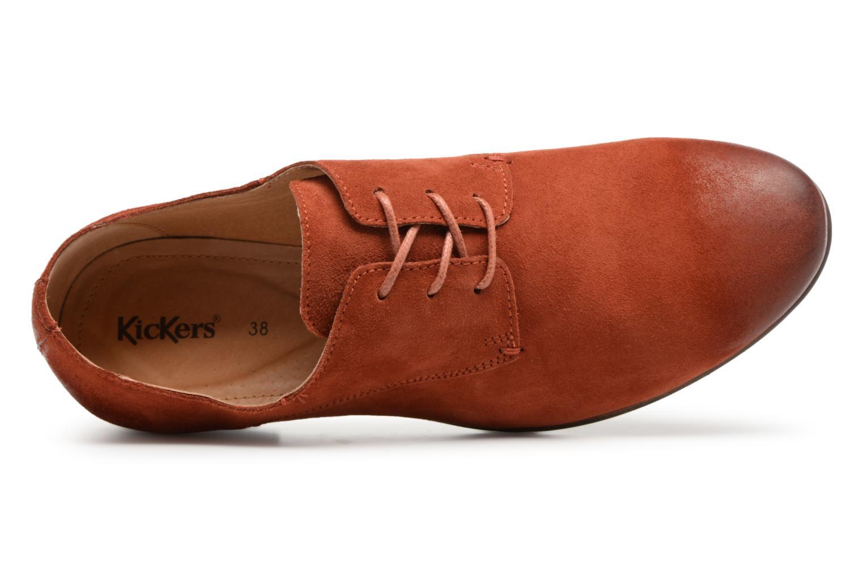 Chaussures à lacets Kickers Galla Orange vue gauche