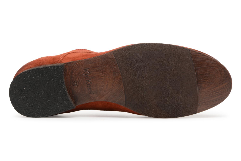 Chaussures à lacets Kickers Galla Orange vue haut