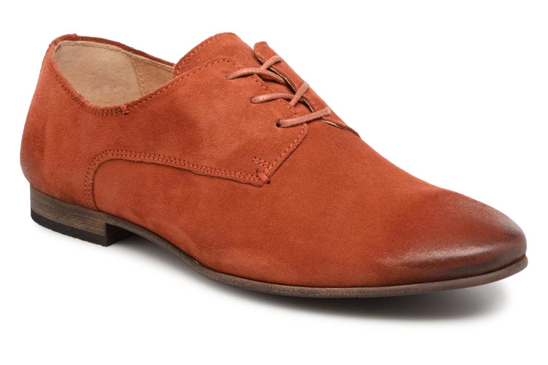Chaussures à lacets Kickers Galla Orange vue détail/paire