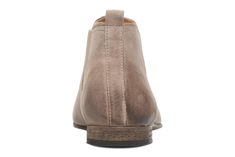 Bottines et boots Kickers Gazette Beige vue droite
