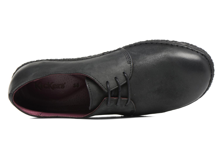 Chaussures à lacets Kickers Holster Noir vue gauche