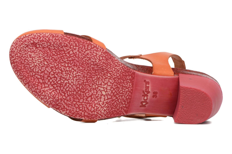 Sandales et nu-pieds Kickers Pietra Rose vue haut