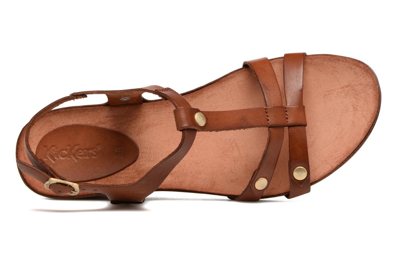 Sandales et nu-pieds Kickers Takit Marron vue gauche
